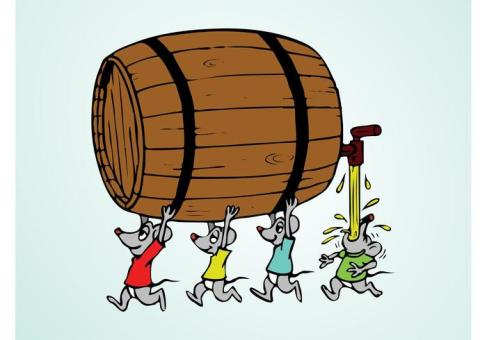 vector-mice-with-barrel